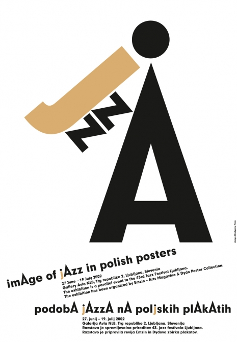 image of jazz in polish posters, plakat wystawowy, offset, 98 x 68 cm,  Dydo Poster Collection w Krakowie, 2002