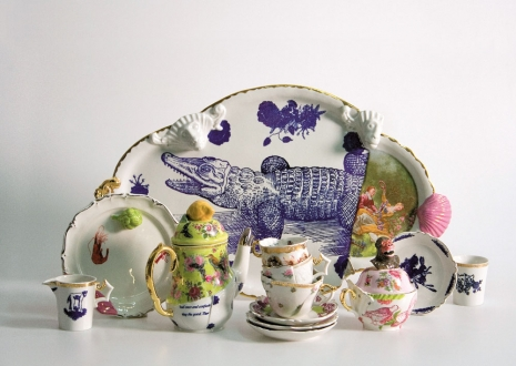 "Vika Mitrichenka (Białoruś), ""Grandmother's treasures"", porcelana, kamionka, 2006, fot. Maxim Tyminka"